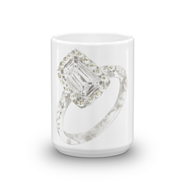 Radiant Engagement Ring Mug