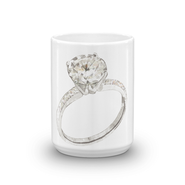 Solitaire Engagement Ring Mug