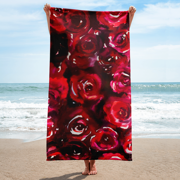 Watercolor Beauty Rose Towel
