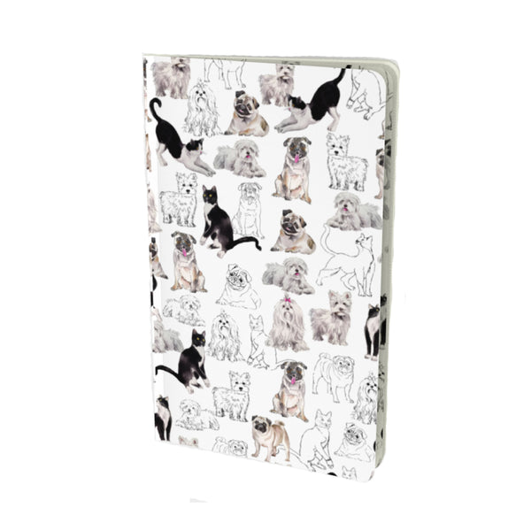 PETS VELVET MATTE FINISH LINED NOTEBOOK