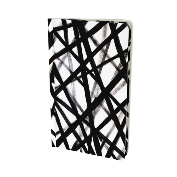 BLACK GRAFFITI VELVET MATTE FINISH LINED NOTEBOOK