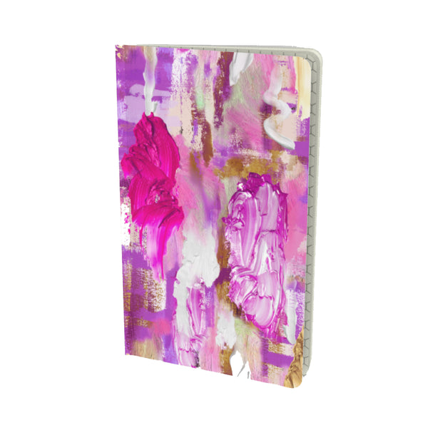 PINK PAINT DAUBS VELVET MATTE FINISH LINED NOTEBOOK