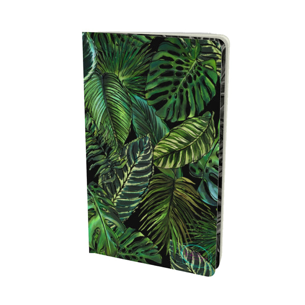 PALM LEAF BLACK VELVET MATTE FINISH LINED NOTEBOOK