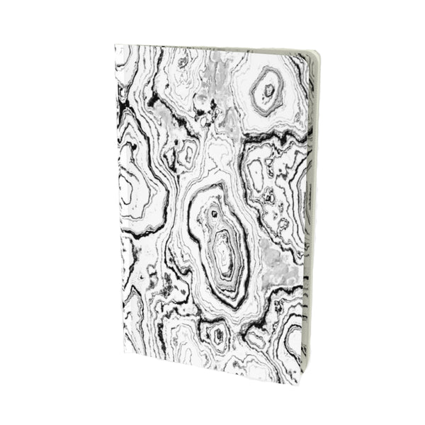 BLACK & WHITE GEODE MATTE VELVET FINISH LINED JOURNAL