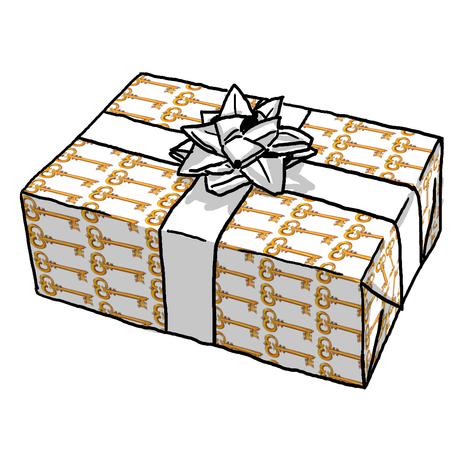 Golden Key Gift Wrap
