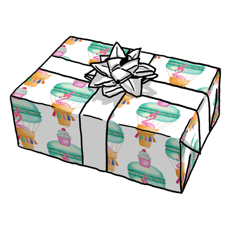 Fran the Birthday Flamingo Gift Wrap