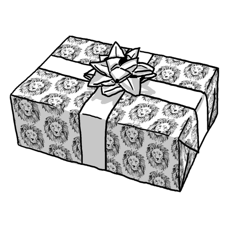 LION OUTLINE GIFT WRAP