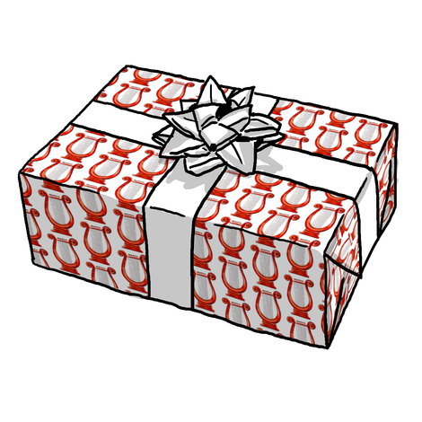 Alpha Chi Omega Red Lyre Gift Wrap
