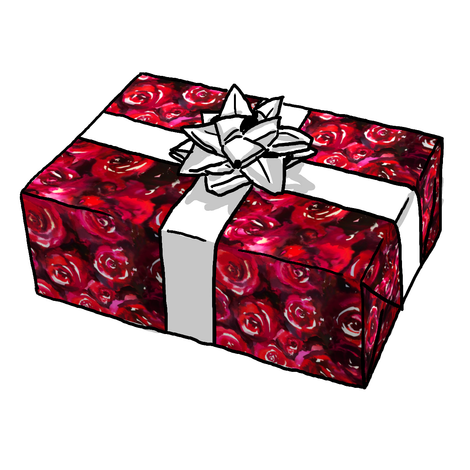 Watercolor Beauty Rose Gift Wrap