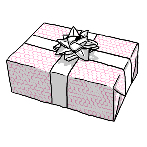 Pink Hexagon Gift Wrap