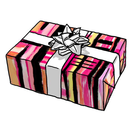 Pink Graffiti Gift Wrap
