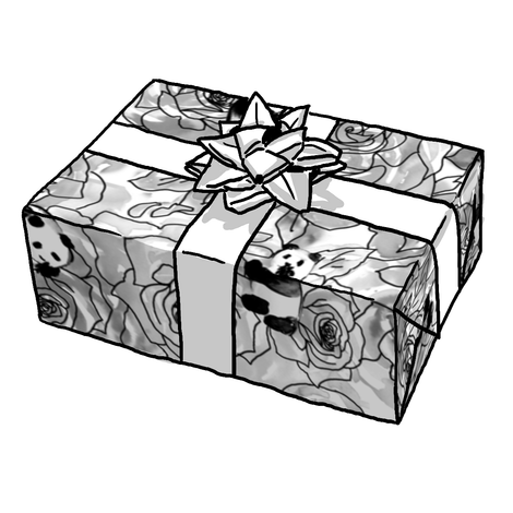 Panda Black & White Gift Wrap