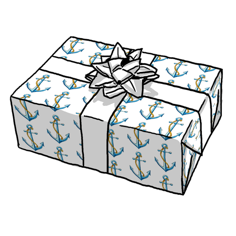 Anchor Blue Gift Wrap