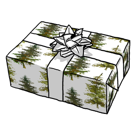Winter Trees Gift Wrap