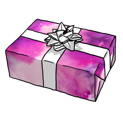 Pink Watercolor Ombre Gift Wrap