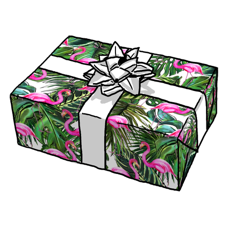 Palm Flamingo Gift Wrap