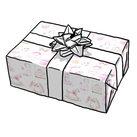 BABY GIRL JOY GIFT WRAP