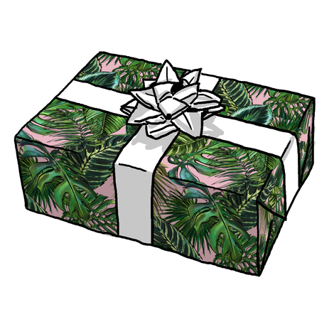 Palm Leaf Blush Gift Wrap