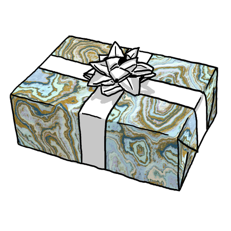 Blue & Gold Geode Gift Wrap
