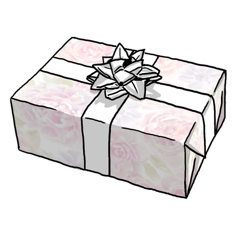 SHELBY FLORAL BABY GIRL GIFT WRAP