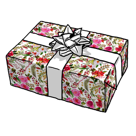 Gorgeous Floral Christmas Gift Wrap