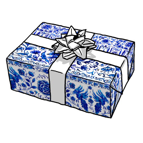 Blue + White Chinois Gift Wrap