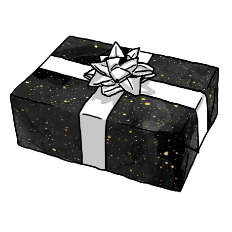 BLACK GOLD SPECKLE GIFT WRAP