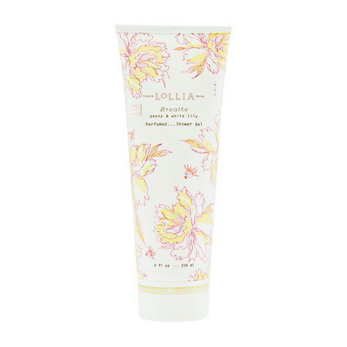 Lollia 'Breathe' Peony & White Lily Perfumed Shower Gel
