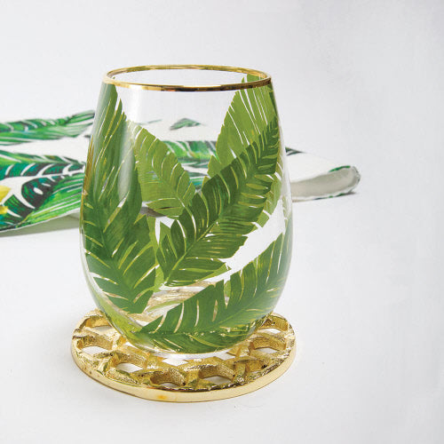 Banana Leaf Stemless Wine Glass