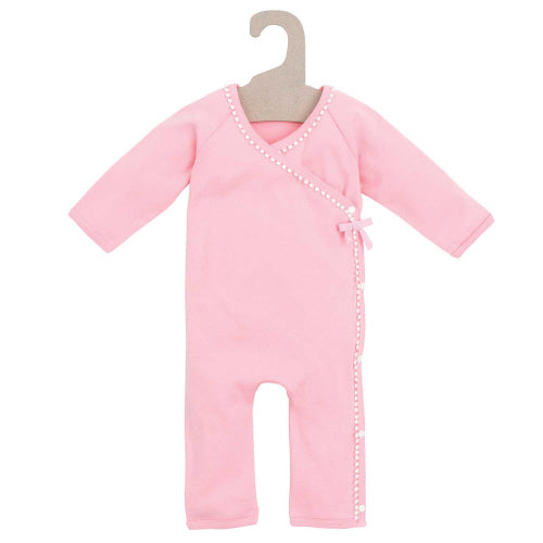 Organic Terry Coverall Pink & Pearls