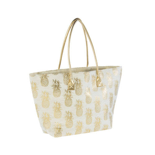 Gold Metallic Pineapple Tote