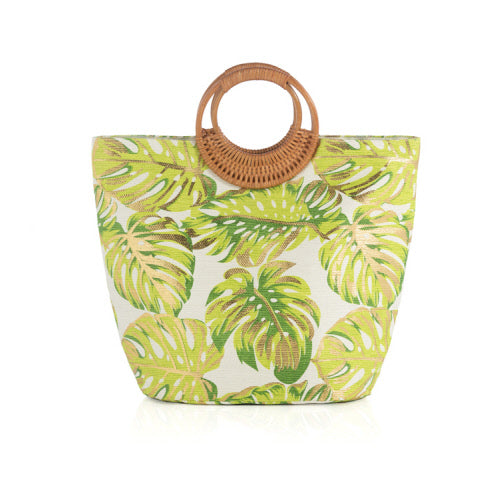 GREEN PALM TATE TOTE BAG