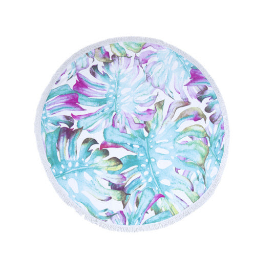 Isla Tropical Round Beach Blanket