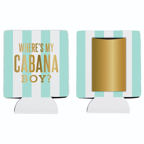 Where's My Cabana Boy Koozie