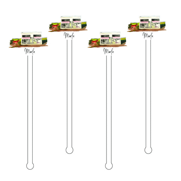 Marfa Texas Acrylic Stir Sticks