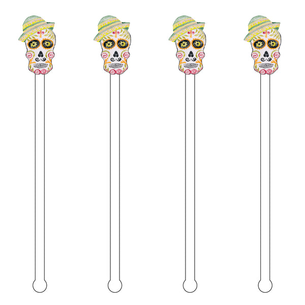 GRANDPA SUGAR SKULL ACRYLIC STIR STICKS