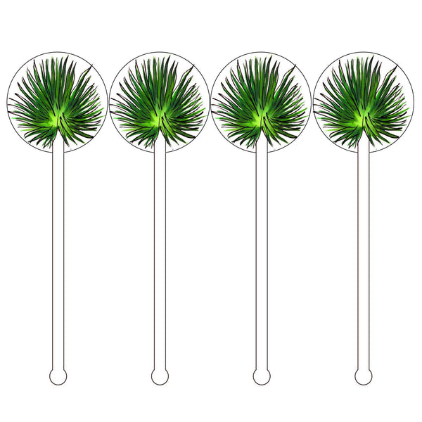 Cabbage Palm Acrylic Stir Sticks