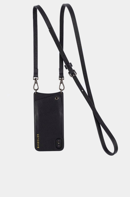 Leather Crossbody - Emma Black/Pewter