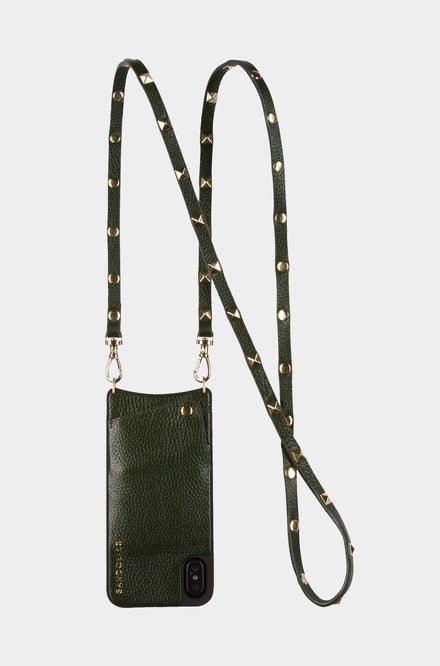 Leather Crossbody - Sarah Evergreen/Gold