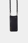 Bandolier Leather Crossbody Phone Case for iPhone - Lucy Black/Pewter