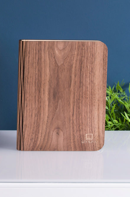 Gingko Smart Book Light in Walnut