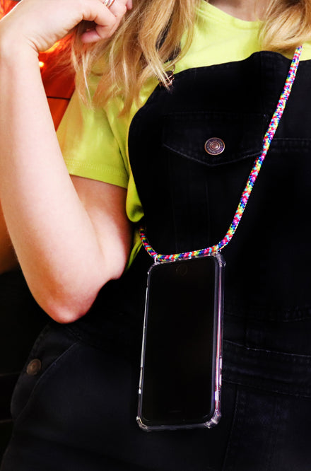 SODA x Xou Xou Smartphone Necklace - Rainbow