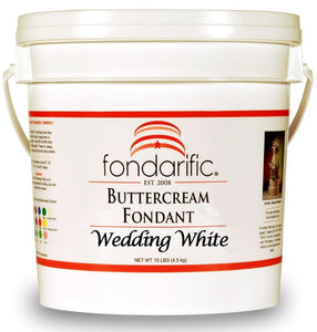 Fondant - Fondarific - Buttercream Wedding White - 10lb - Dragonfly Cake Supply, Alberta, Canada