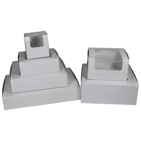 White Cupcake Boxes - With Window (12 Cupcakes)