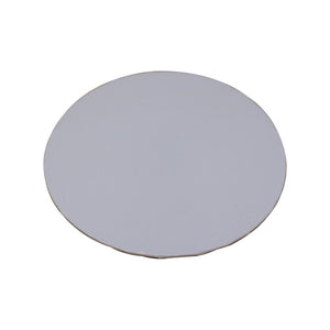 "White Foil Cake Boards 1/4"" - 10"" Round"