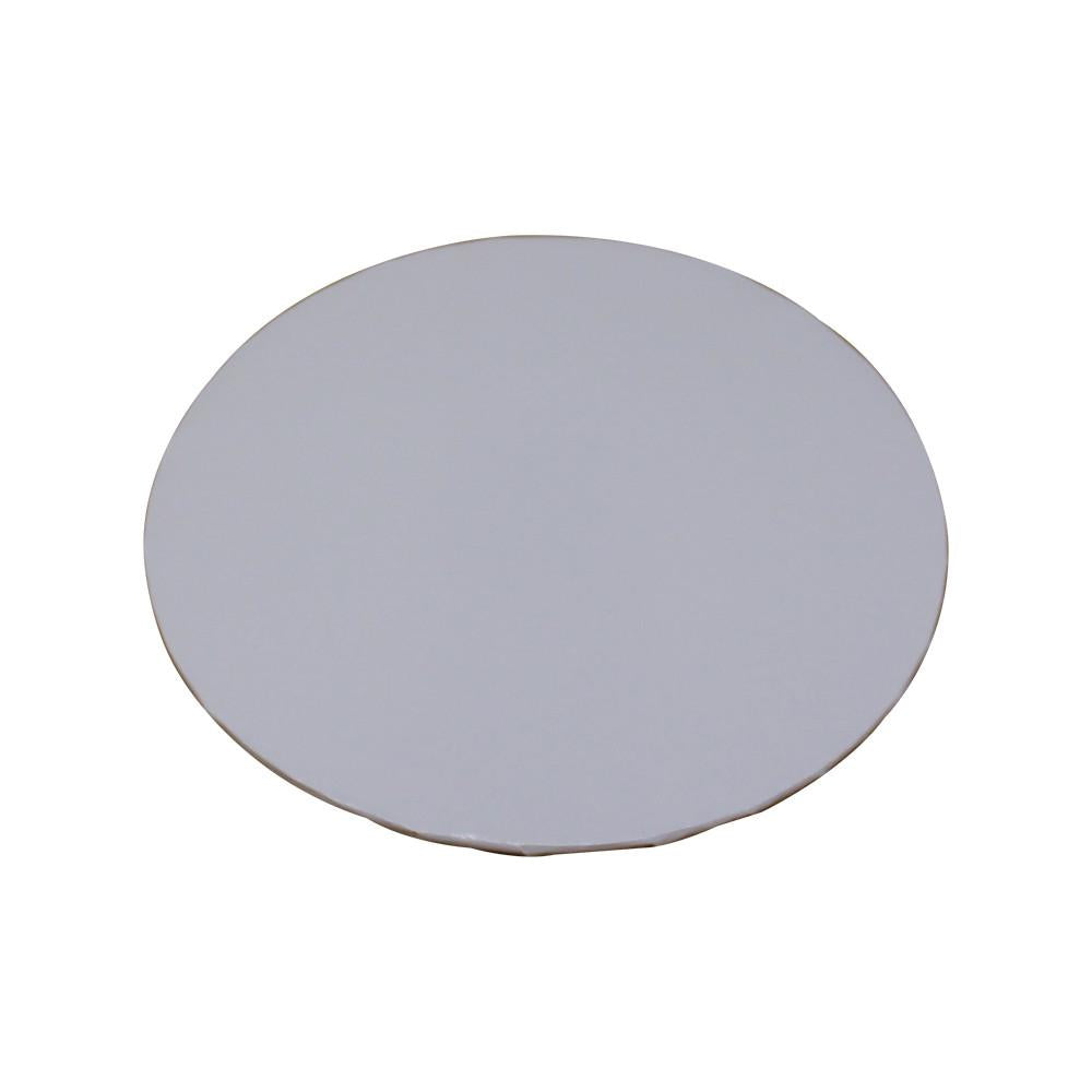 "White Foil Cake Boards 1/4"" - 12"" Round"