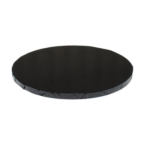 "Black Foil Cake Drums 1/2"" - 12"" Round"