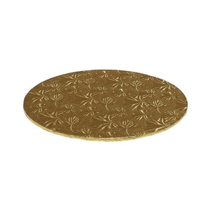 "Gold Foil Cake Boards 1/4"" - 6"" Round"