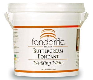 Fondant - Fondarific - Buttercream Wedding White - 5lb - Dragonfly Cake Supply, Alberta, Canada