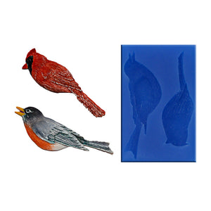 Bird Pair Silicone Mould